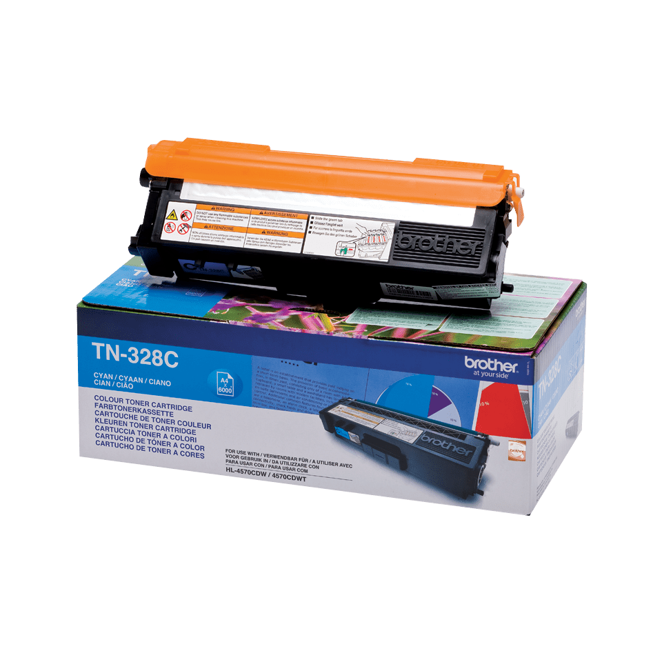 Original Brother TN328C super høykapasitet toner – cyan 2
