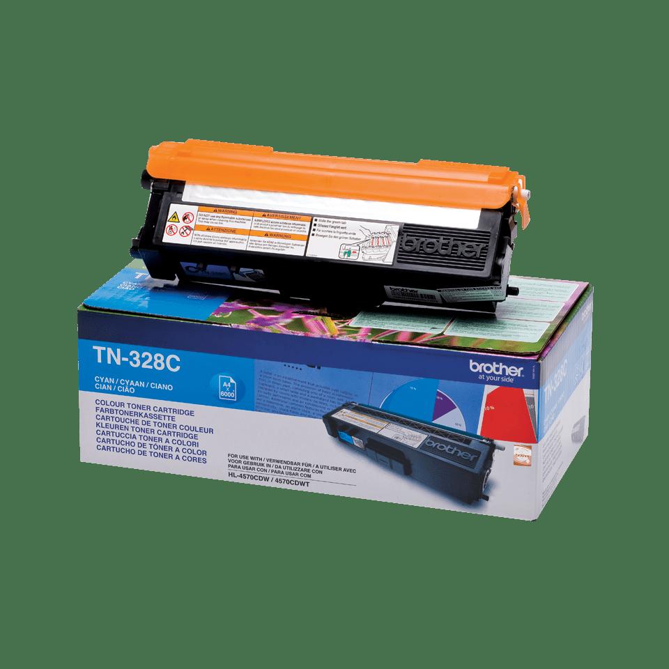Original Brother TN328C super høykapasitet toner – cyan 2