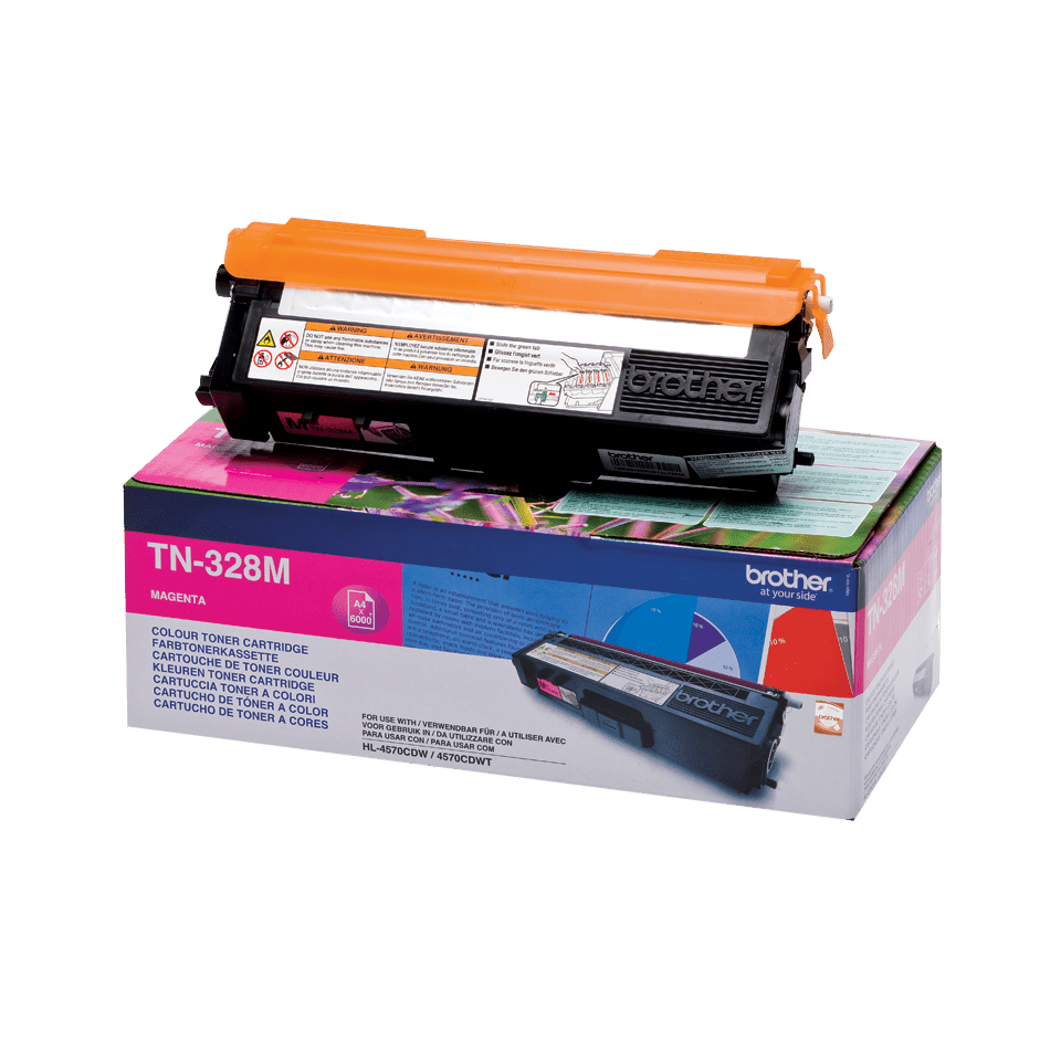 Original Brother TN328M super høykapasitet toner – magenta 2