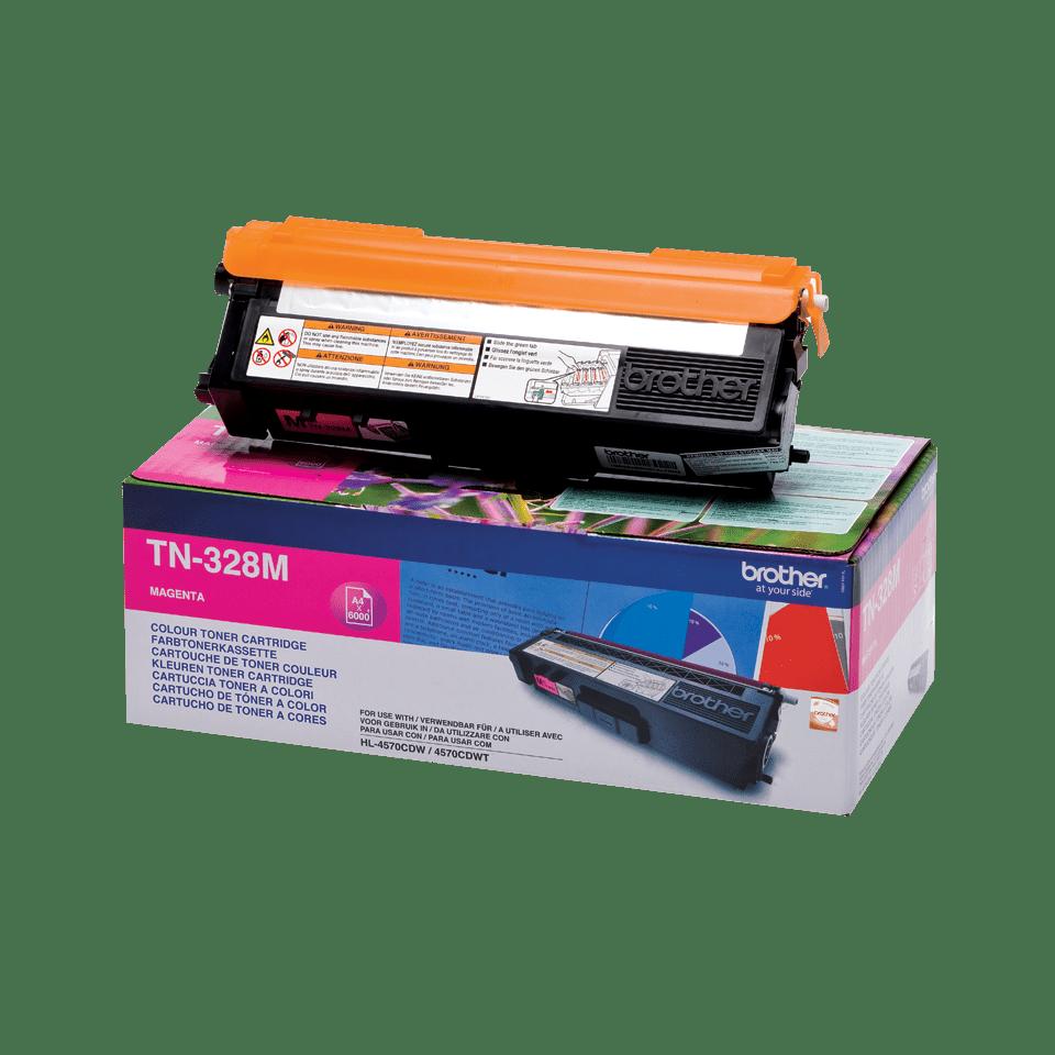 Original Brother TN328M super høykapasitet toner – magenta