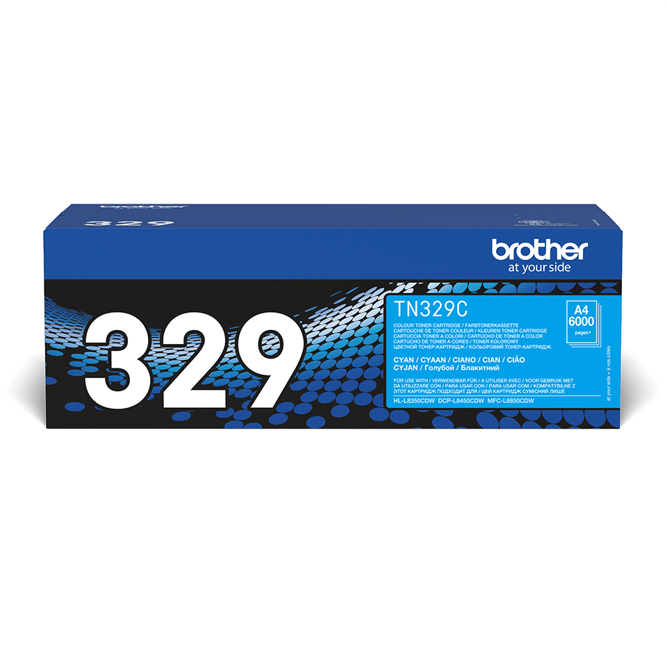 Original Brother TN329C super høykapasitet toner – cyan