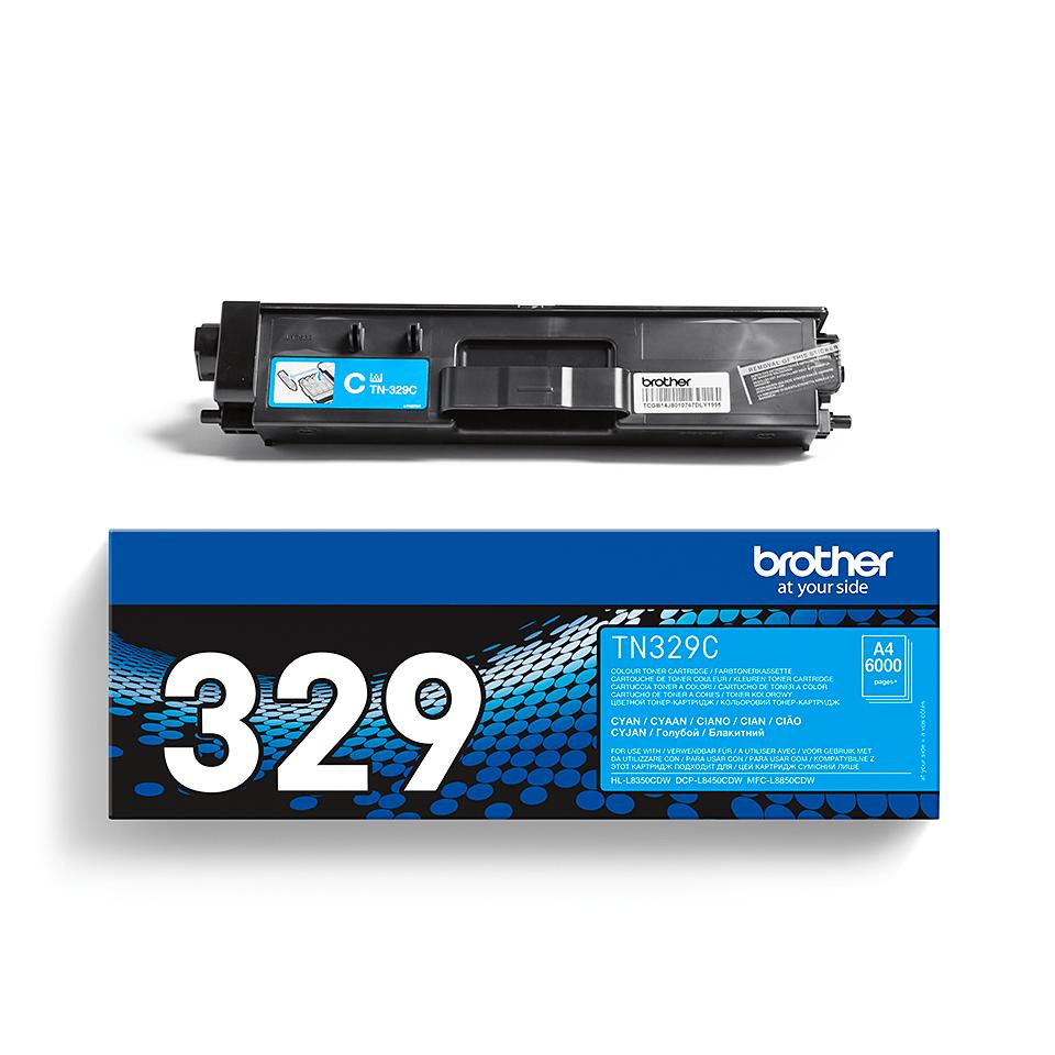 Original Brother TN329C super høykapasitet toner – cyan 2