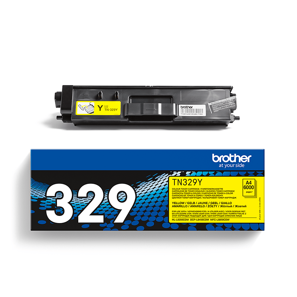 Original Brother TN329Y super høykapasite toner – gul 2