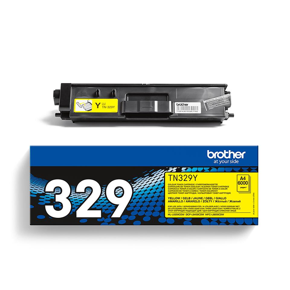 Original Brother TN329Y super høykapasite toner – gul 2