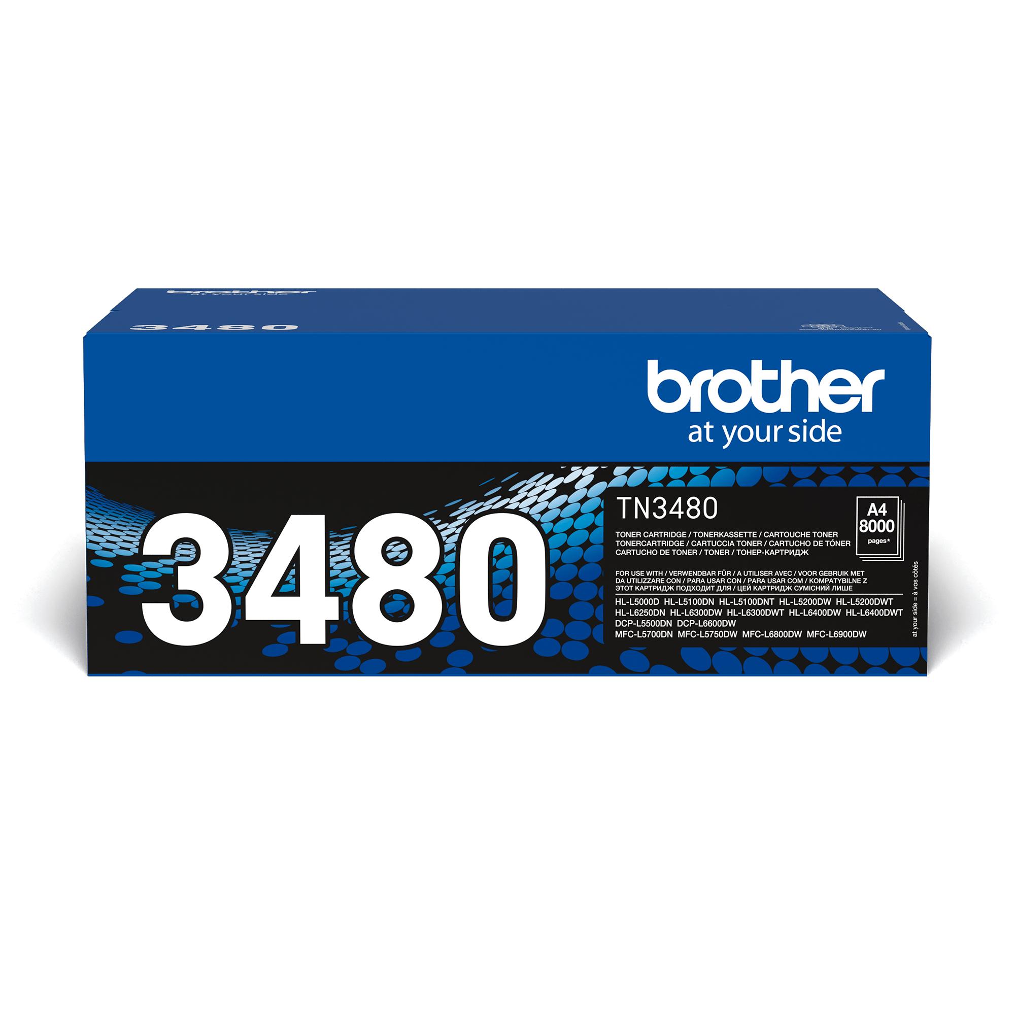 Original Brother TN3480 toner – sort