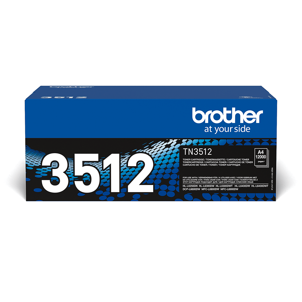 Brother TN3512 original super høykapasitet toner sort