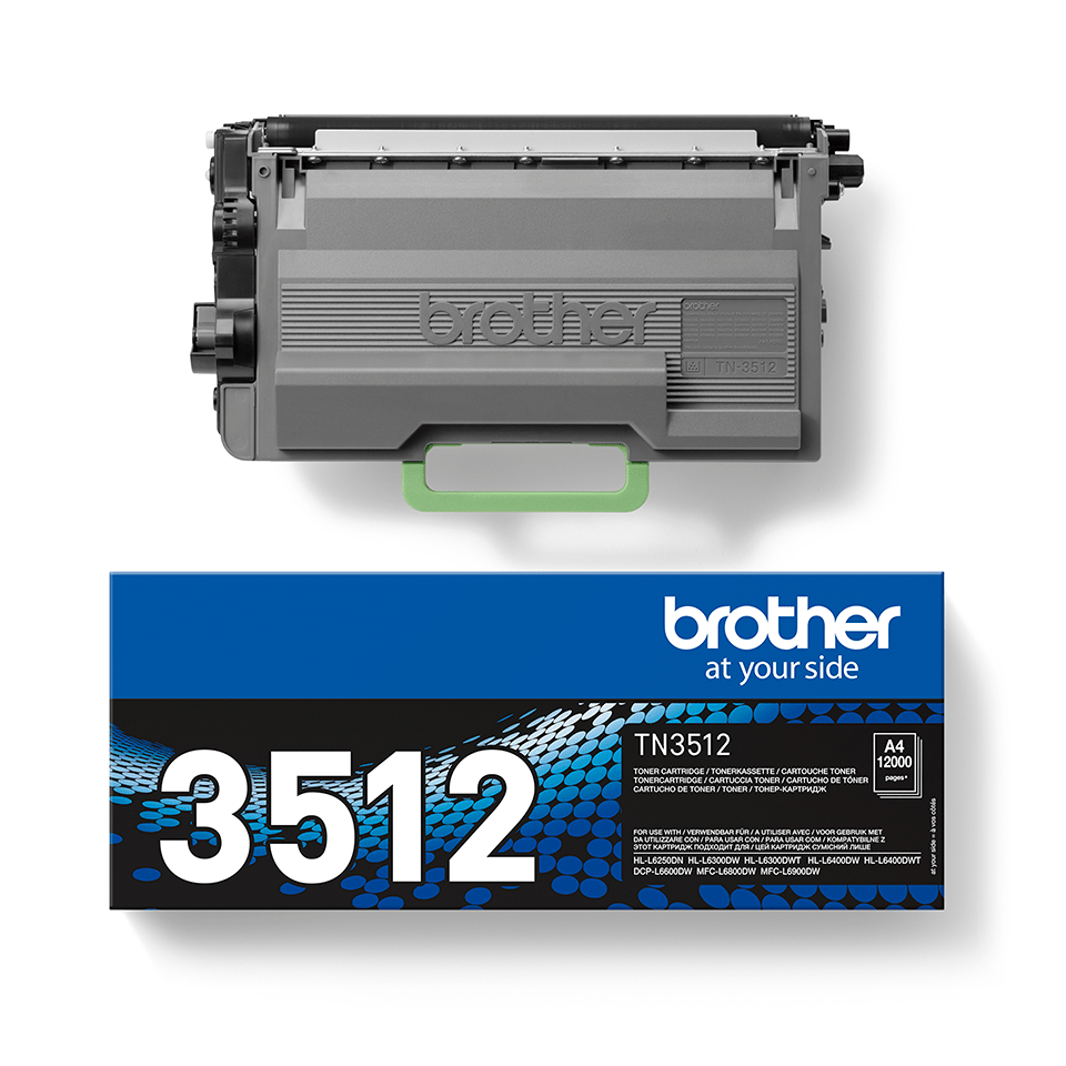 Brother TN3512 original super høykapasitet toner sort 2