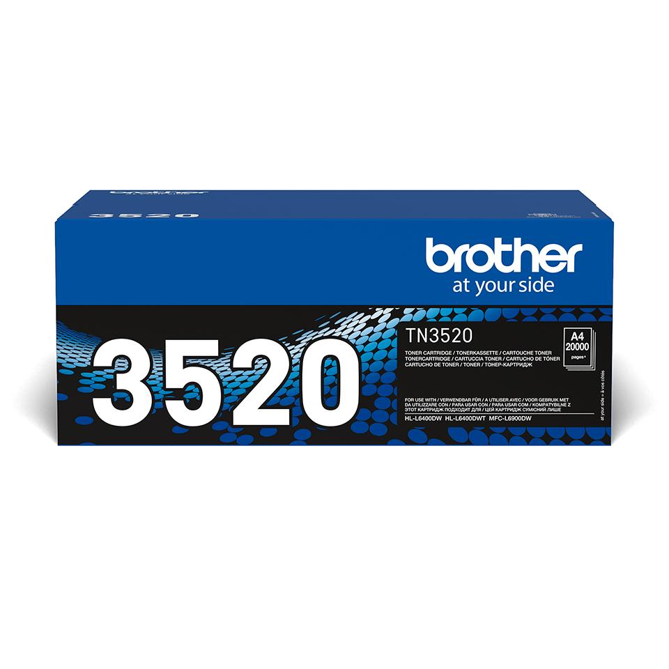 Brother TN3520 original ekstra super høykapasitet toner sort