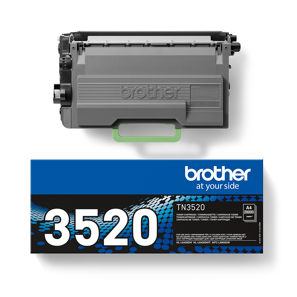 Brother TN3520 original ekstra super høykapasitet toner sort 2