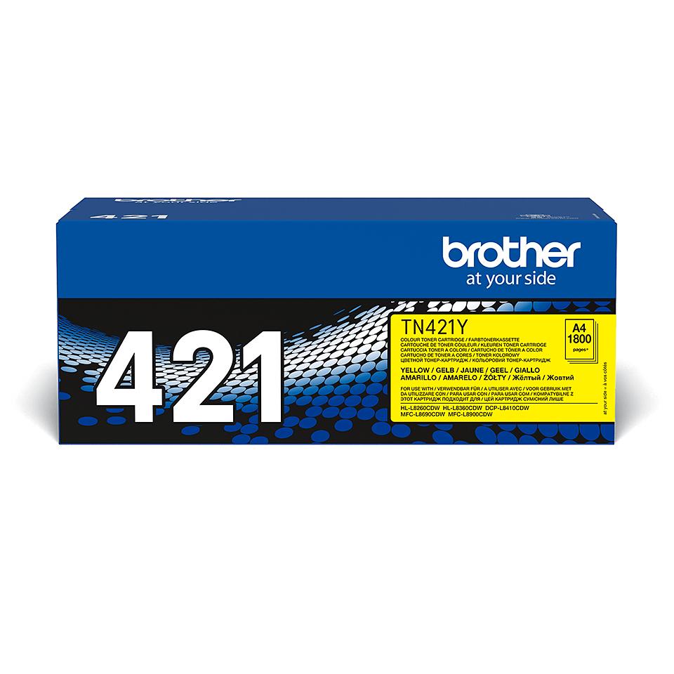 Original Brother TN421Y toner – gul 2