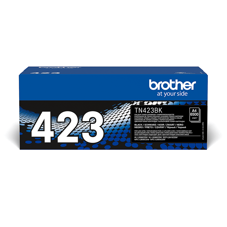 Original Brother TN423BK høykapasitet toner – sort