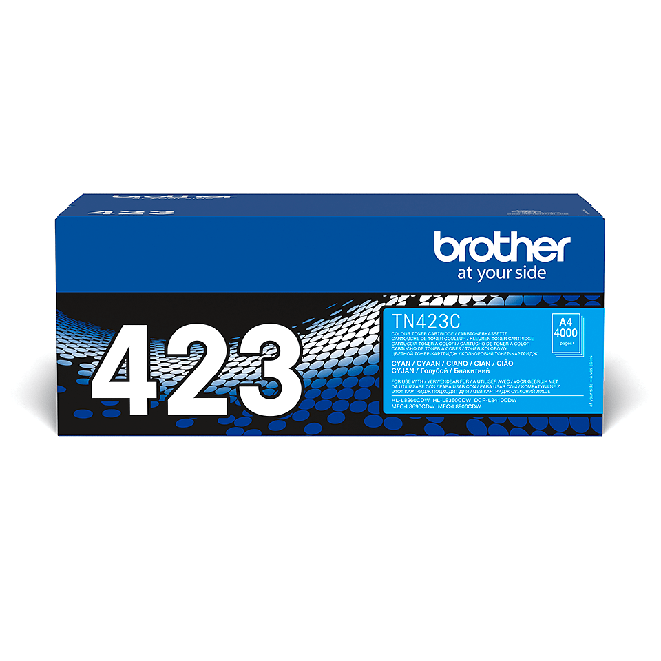 Original Brother TN423C høykapasitet toner – cyan