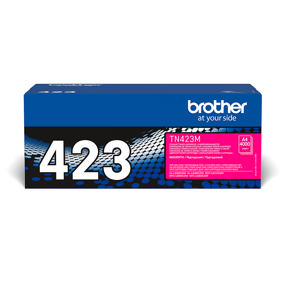 Original Brother TN423M høykapasitet toner – magenta