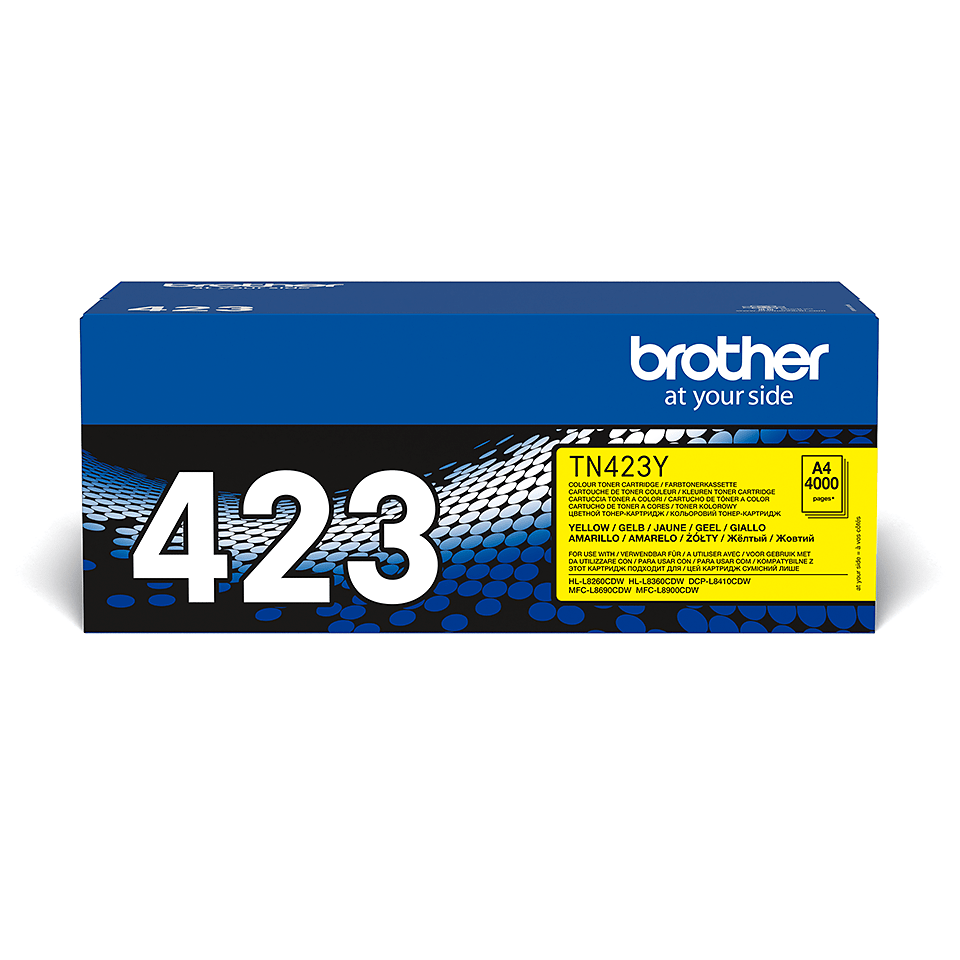 Original Brother TN423Y høykapasitet toner – gul