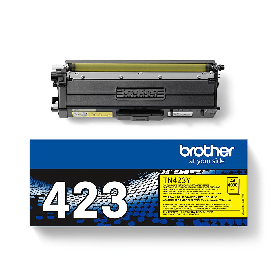 Original Brother TN423Y høykapasitet toner – gul 2