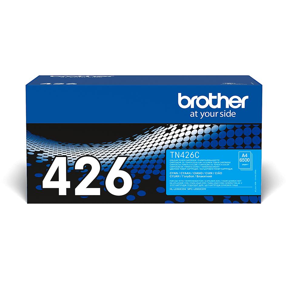Original Brother TN426C super høykapasitet toner  – cyan
