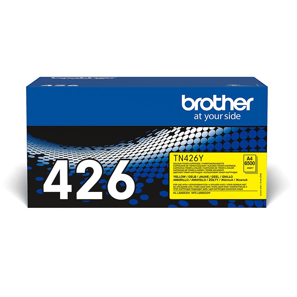Original Brother TN426Y super høykapasitet toner – gul