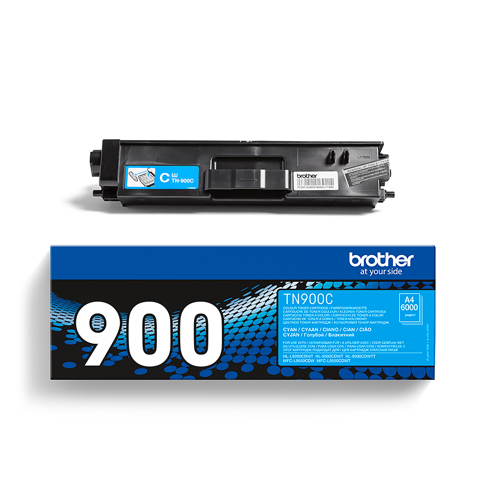 Original Brother TN900C super høykapasitet toner – cyan 2