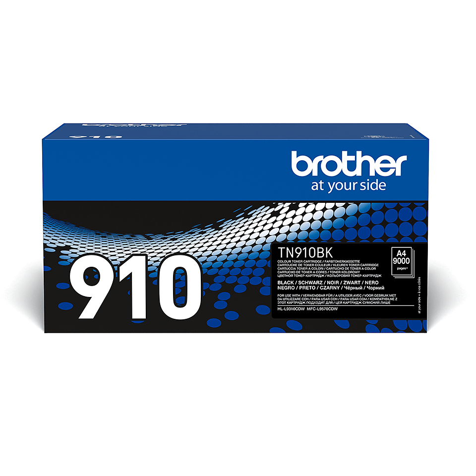 Original Brother TN910BK ultra høykapasitet toner – sort
