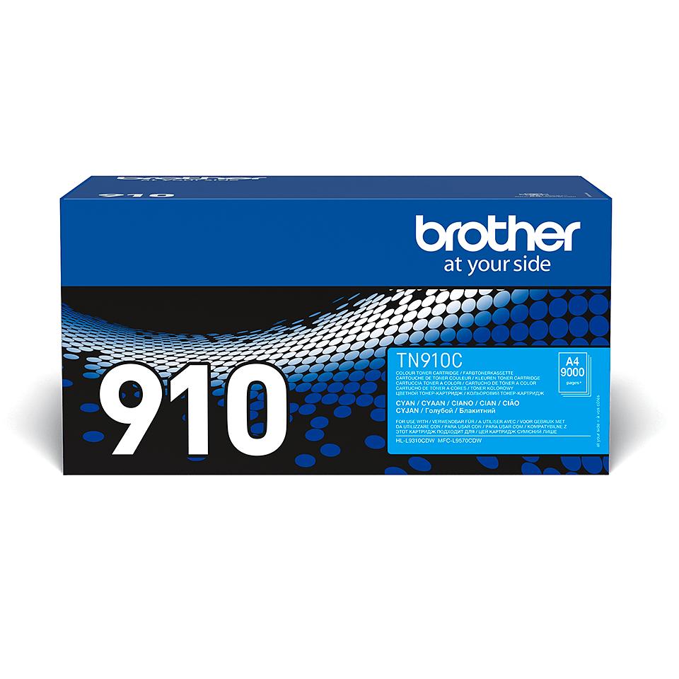 Original Brother TN910C ultra høykapasitet toner – cyan