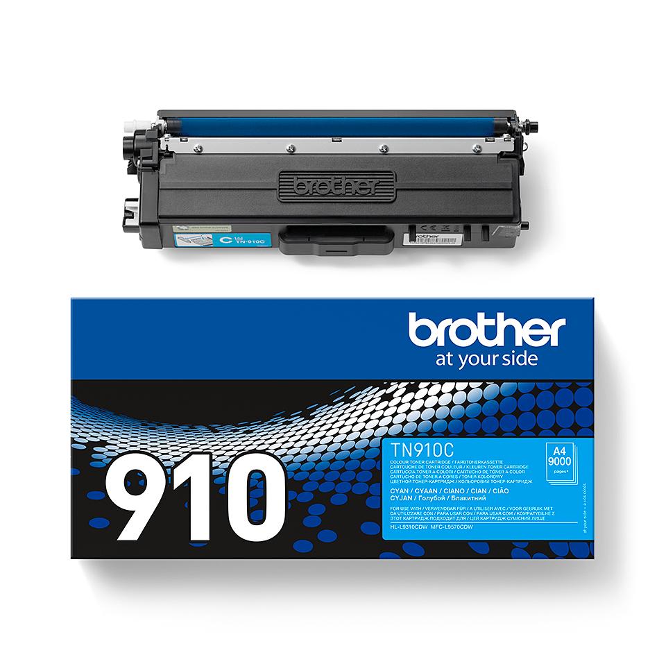 Original Brother TN910C ultra høykapasitet toner – cyan 2