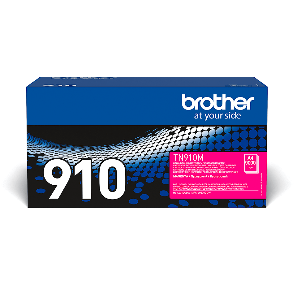 Original Brother TN910M ultra høykapasitet toner – magenta