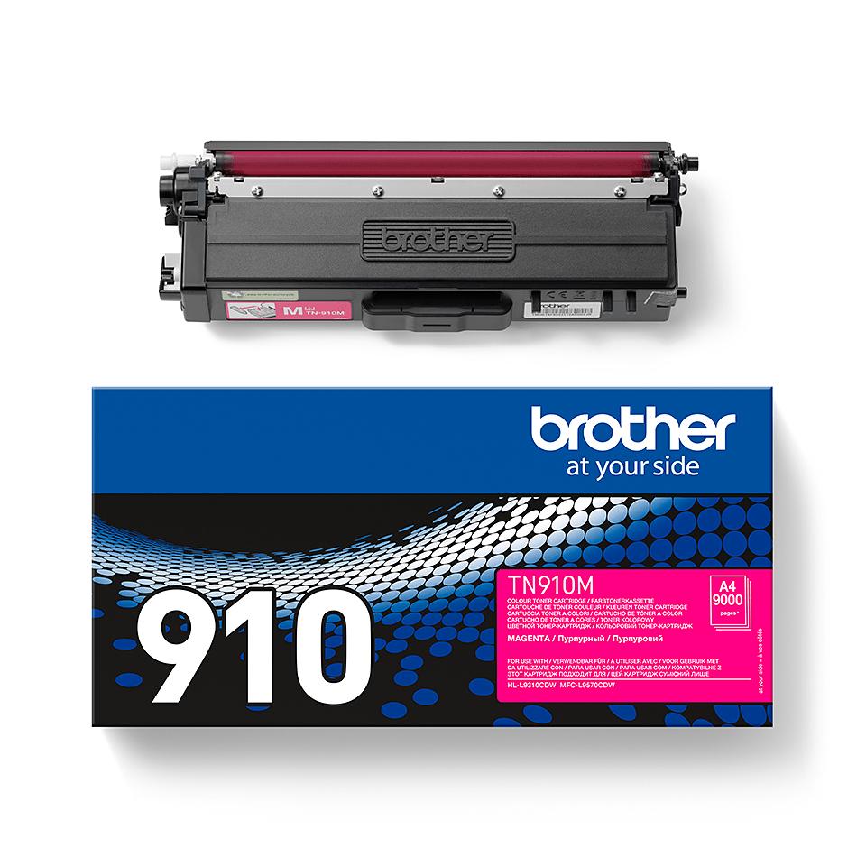 Original Brother TN910M ultra høykapasitet toner – magenta 2