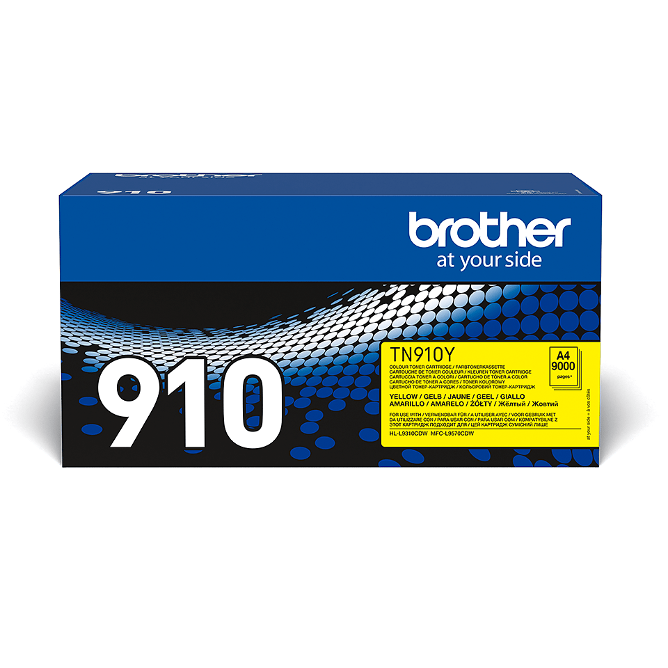 Original Brother TN910Y ultra høykapasitet toner – gul