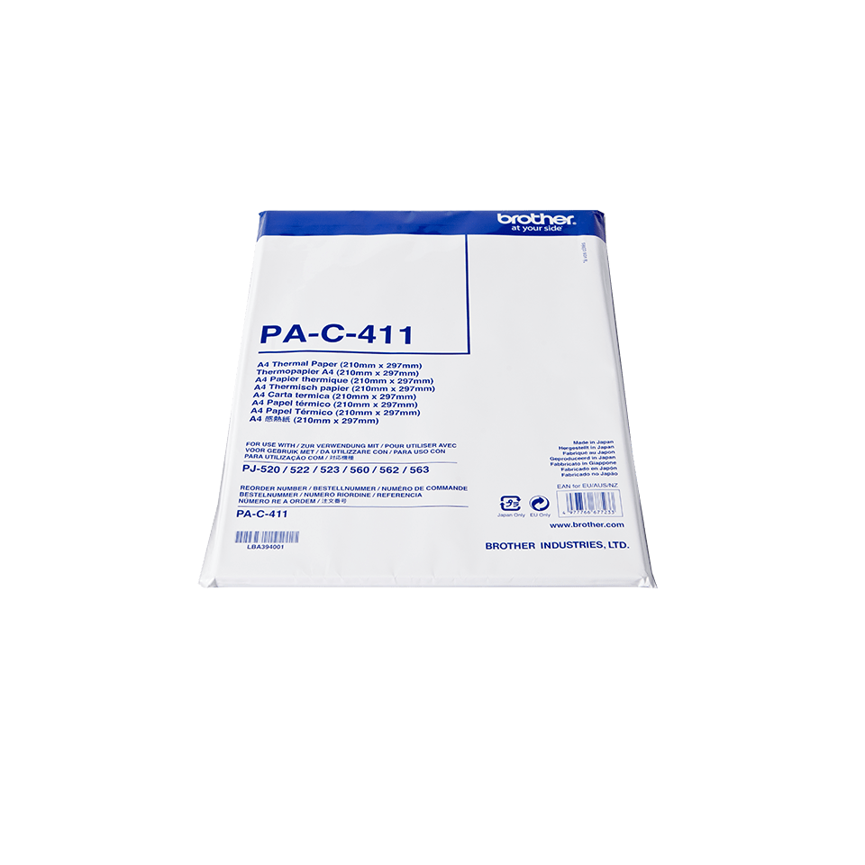 Brother original PAC411 termisk papir A4