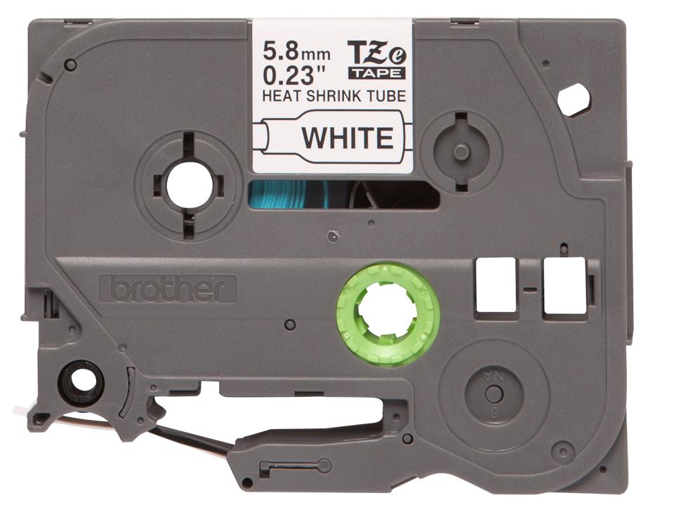 Brother original HSe211 krympestrømpe - sort på hvit, 5,8 mm bred