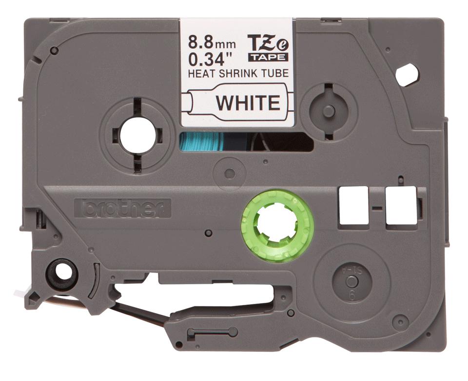 Original Brother HSE221 krympestrømpe - sort på hvit, 8,8 mm bred x 1,5 m  2