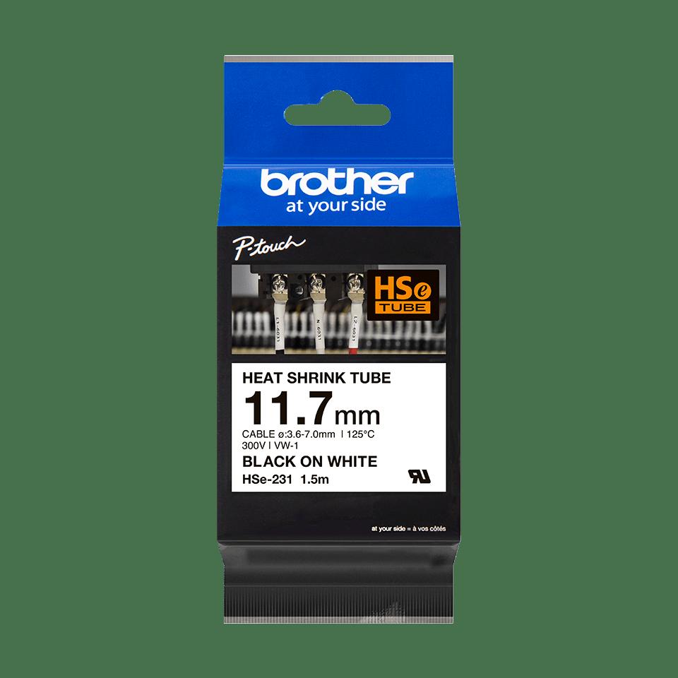 Original Brother HSe231 krympestrømpe – sort på hvit, 11,7 mm bred 3