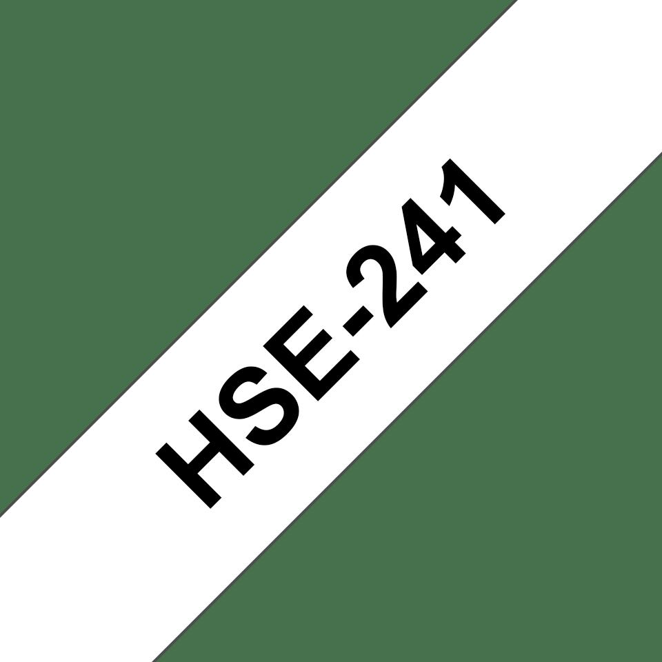 Original Brother HSe241 krympestrømpe – sort på hvit, 17,7 mm bred