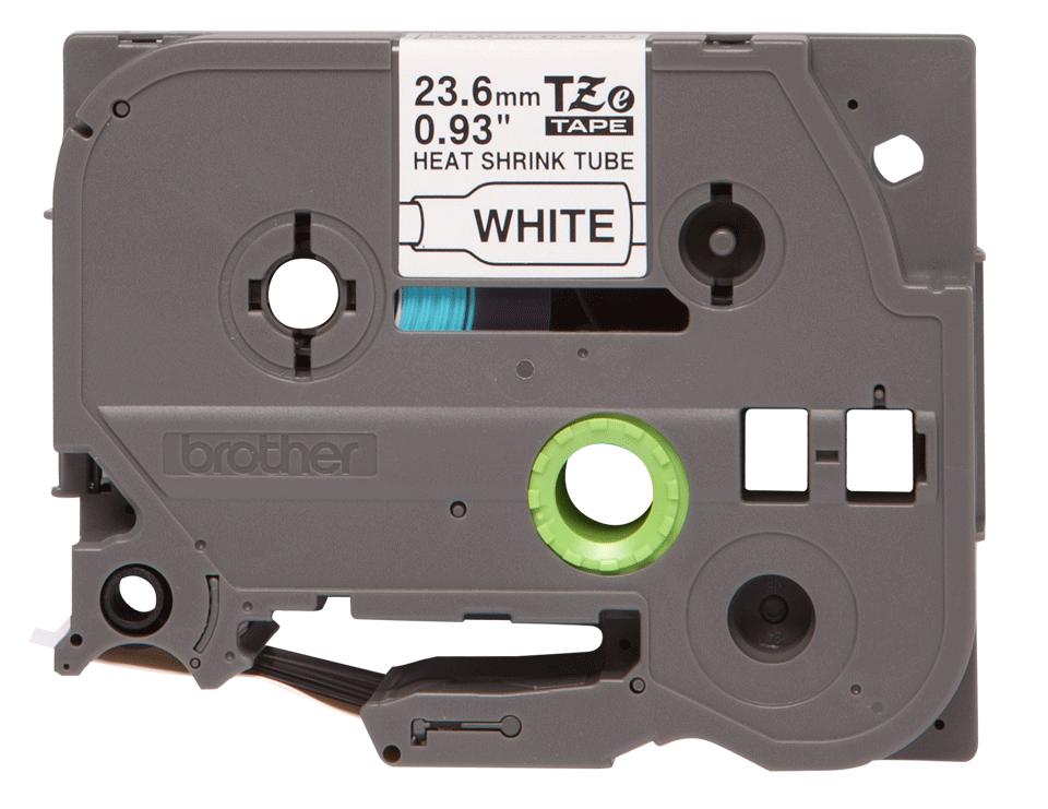 Original Brother HSe251 krympestrømpe – sort på hvit, 23,6 mm bred 2