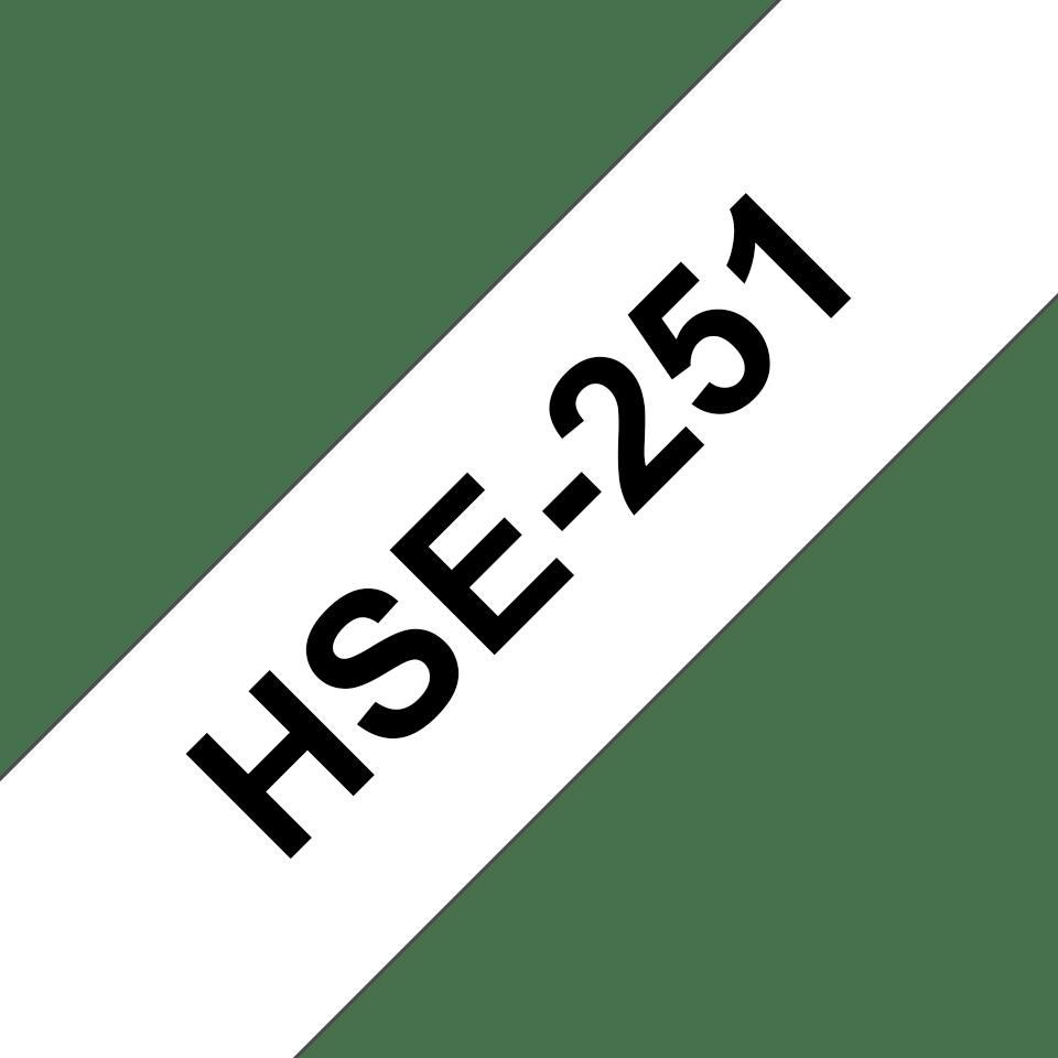 Original Brother HSe251 krympestrømpe – sort på hvit, 23,6 mm bred