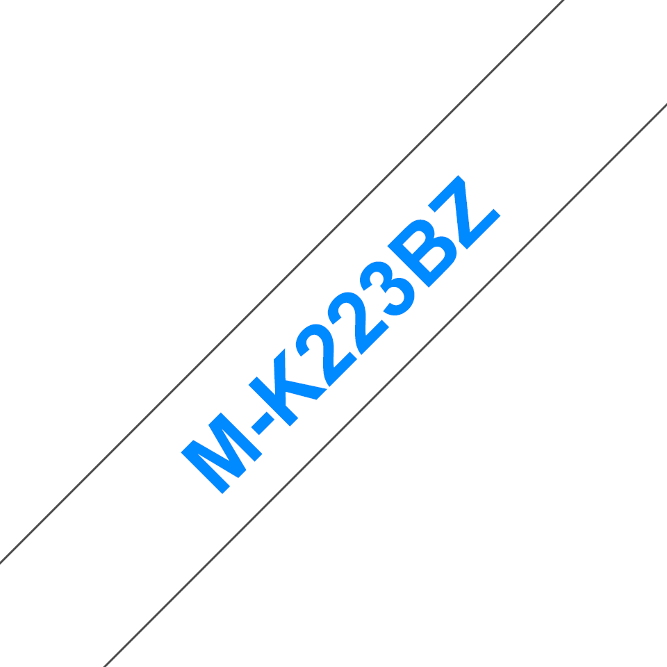 Original Brother MK223BZ merketape – blå på hvit, 9 mm bred 2