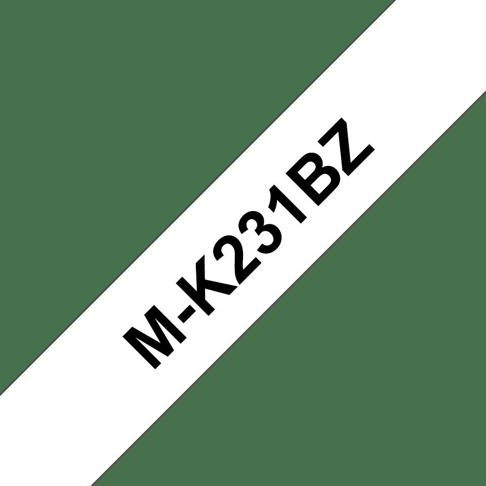 Brother original MK231BZ merketape - sort på hvit, 12 mm bred 2