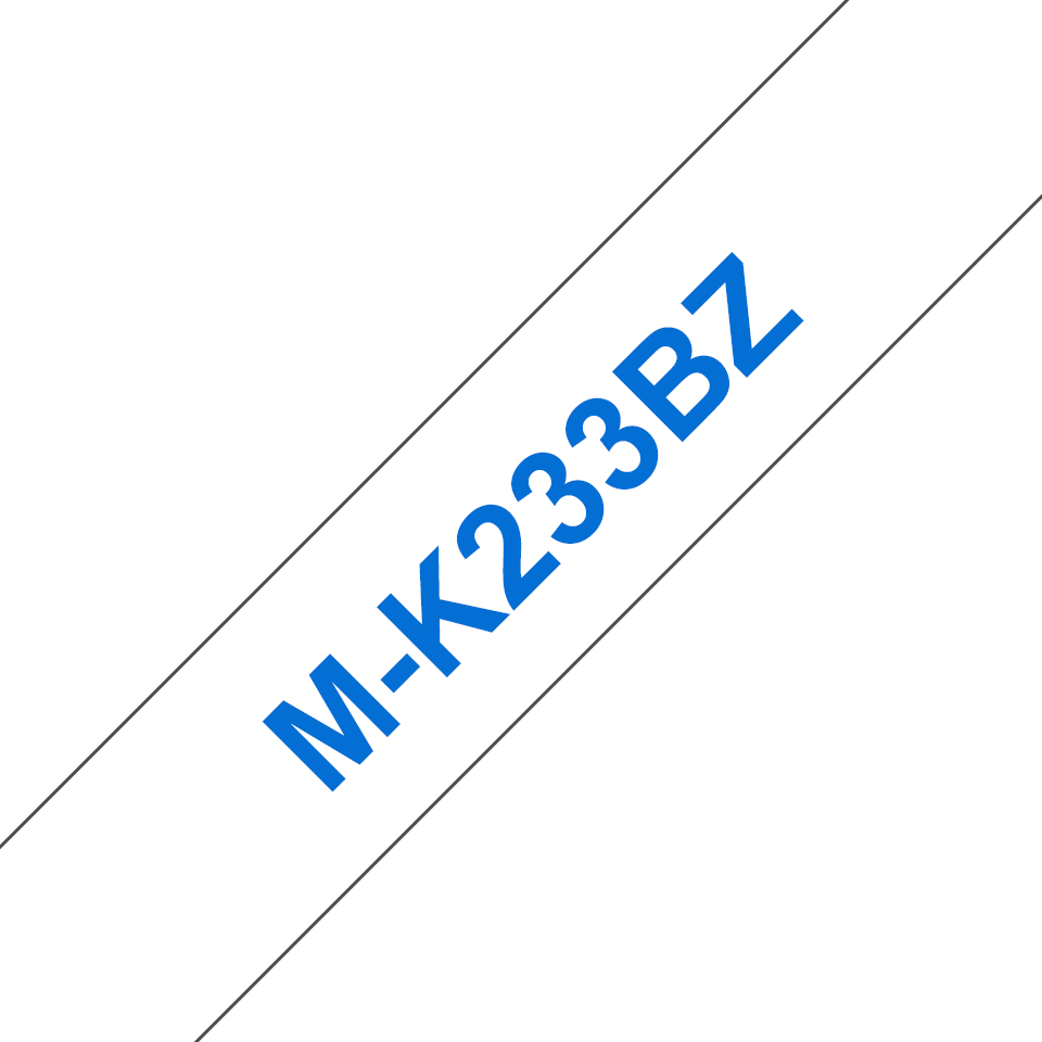 Original Brother MK233BZ merketape – blå på hvit, 12mm bred 2