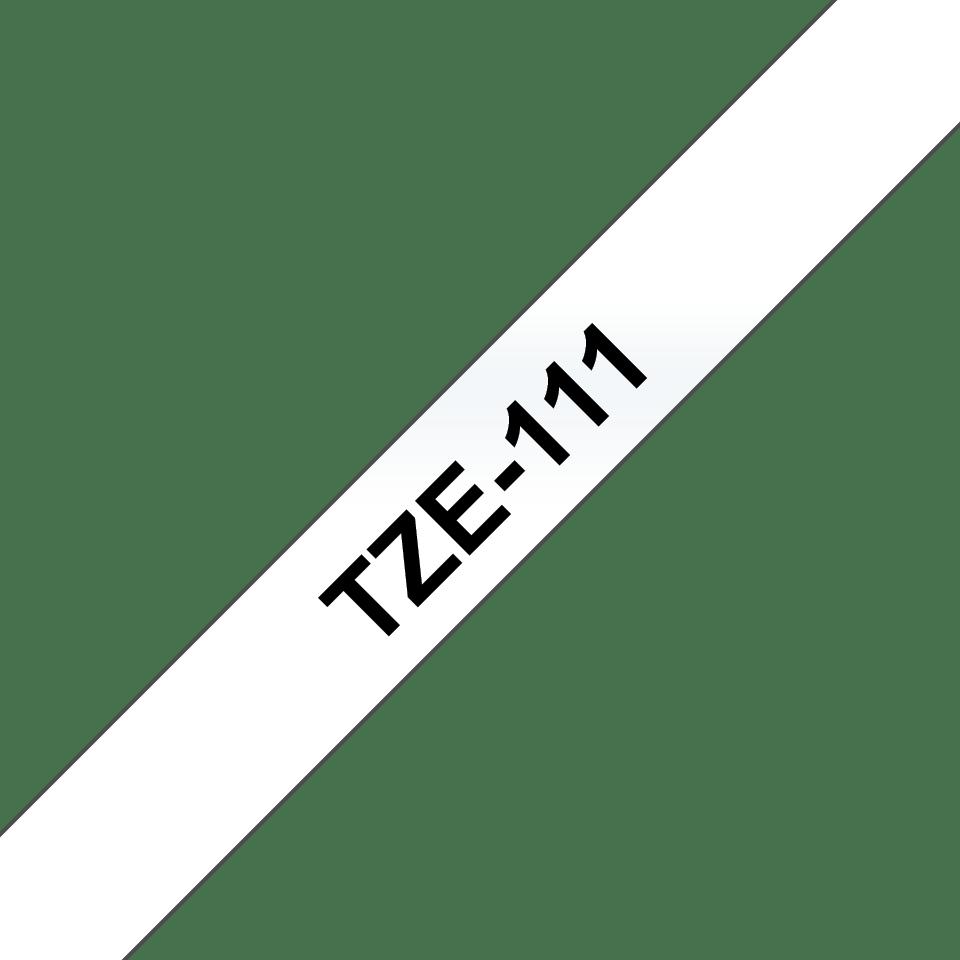 Original Brother TZe111 merketape – sort på klar, 6 mm bred 3