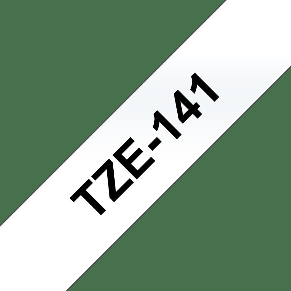 Original Brother TZe141 merketape – sort på klar, 18 mm bred 3