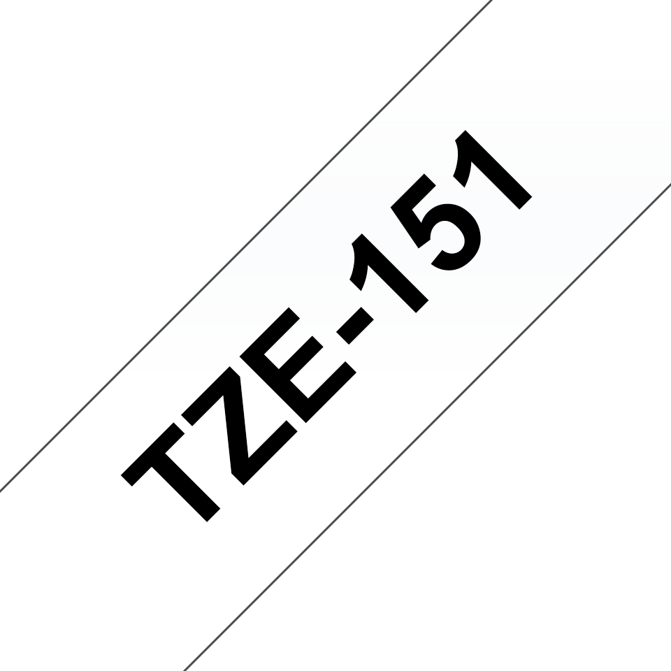 Original Brother TZe151 merketape – sort på klar, 24 mm bred 3