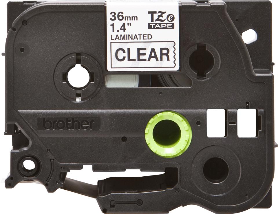 Original Brother TZe161 merketape – sort på klar, 36 mm bred 2