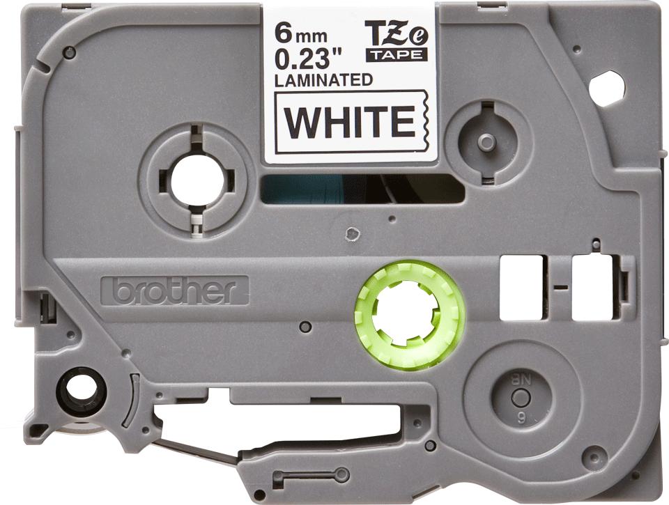 Original Brother TZe211 merketape – sort på hvit, 6 mm bred 2