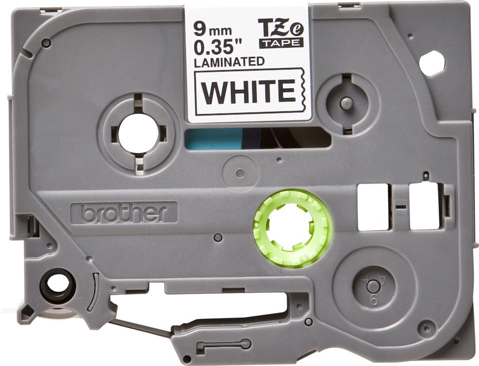 Brother original TZe221 merketape - sort på hvit, 9 mm bred 2