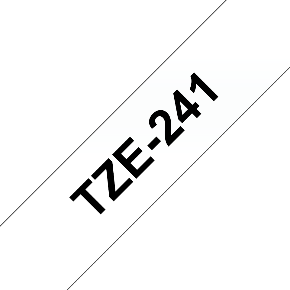 Original Brother TZe241 merketape – sort på hvit, 18 mm bred 3