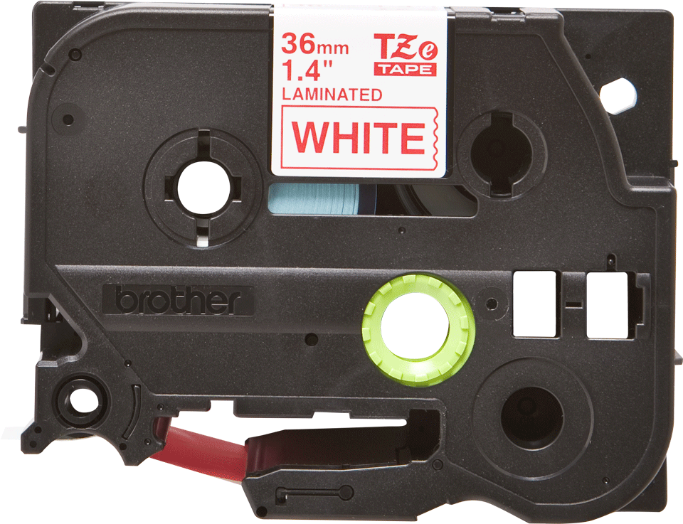 Original Brother TZe262 merketape – rød på hvit, 36 mm bred 2
