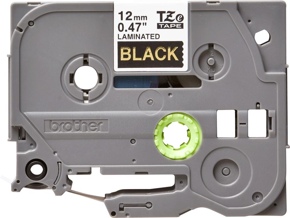 Original Brother TZe334 merketape – gull på sort, 12 mm bred