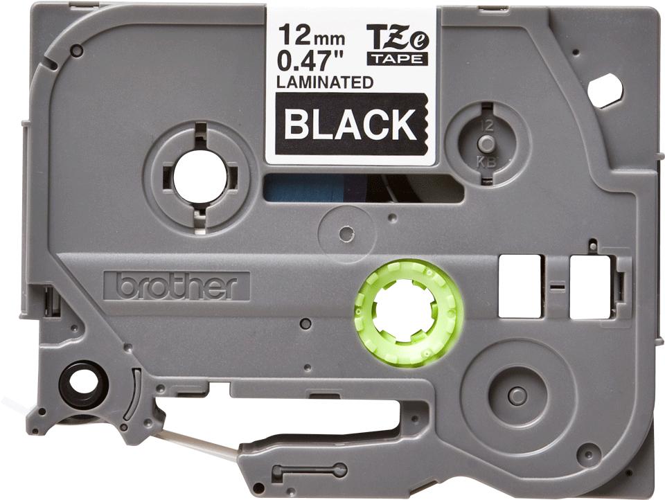 Brother orignal TZe335 original merketape - hvit på sort, 12 mm bred 2