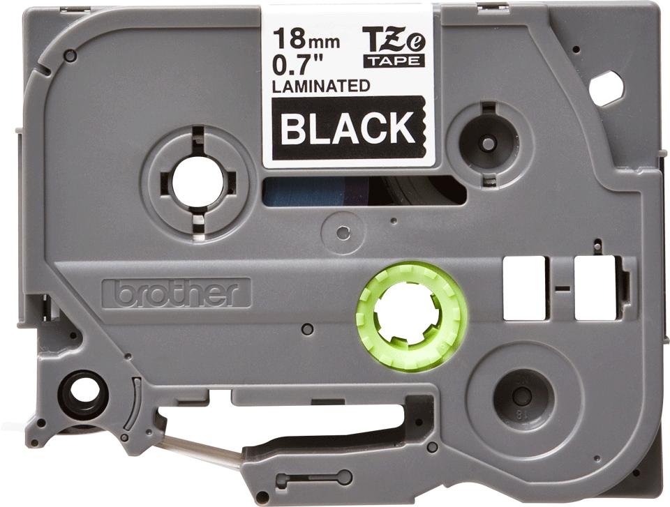 Original Brother TZe345 merketape – hvit på sort, 18 mm bred 2