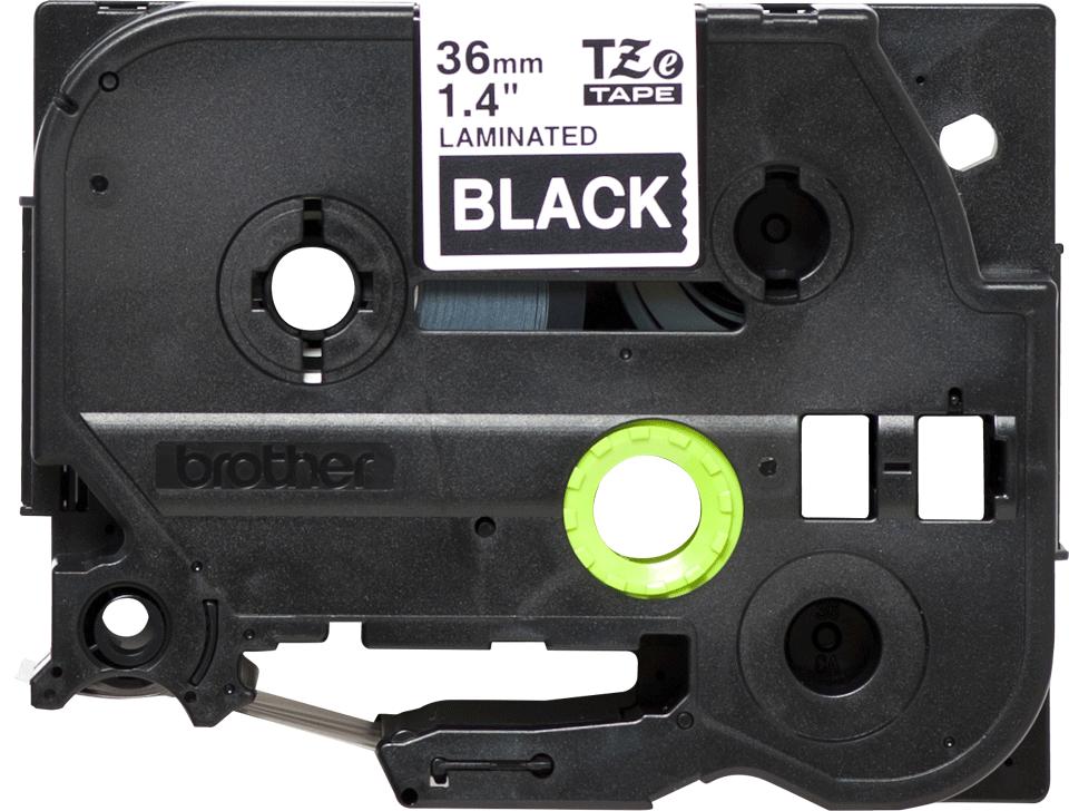 Original Brother TZe365 merketape – hvit på sort, 36 mm bred 2